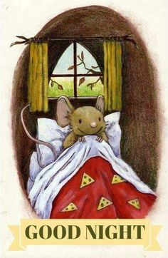 "Layn Marlow illustrations - ""How many sleeps? Art And Illustration, Illustration Mignonne, Good Night, Good Morning, Art Fantaisiste, Art Mignon, Cute Mouse, Nighty Night, Tatty Teddy"