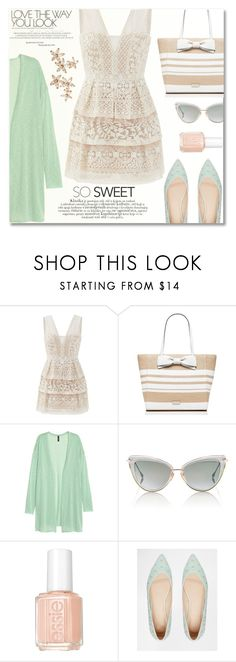 """""""Love the Way You Look"""" by anilovic ❤ liked on Polyvore featuring BCBGMAXAZRIA, Kate Spade, H&M, Dita, Essie, ASOS and Bonheur"""