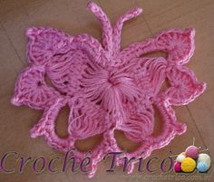 Crochê Tricô: Borboleta em Crochê de Grampo