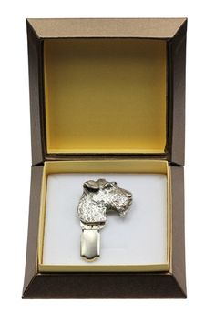 Fox Terrier Wirehaired, dog clipring, show ring clip/number holder, in box, casket, limited edition, ArtDog -- To view further for this item, visit the image link. (This is an affiliate link and I receive a commission for the sales)