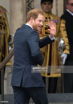 Prince Harry attends a National Service of Thanksgiving as part of the 90th birthday celebrations for The Queen at St Paul's Cathedral on June 10, 2016 in London, England.