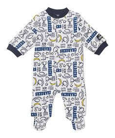 Custom made baby nursery crib bedding set made with san diego white san diego chargers footie infant by nfl negle Images