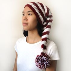 """Pattern available to buy for """"Long Stocking Cap""""...in 5 sizes."""