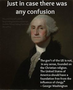 CLARIFICATION FROM ONE OF THE U.S.'s FOUNDING FATHERS...