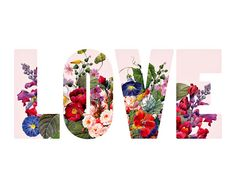 Flower Decor Love Typography 8x10 Print Lilac von PastelFables, $20.00