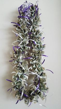 A Xmas Birthday Occasion Desires Xmas Bash Favor Strategies To Generate Happy Tidings! Money Lei For A New Mexico Univ Grad Money Lei, Money Necklace, Graduation Leis, Graduation Decorations, New Mexico, Diy Gifts, Unique Gifts, Money Creation, Creative Money Gifts
