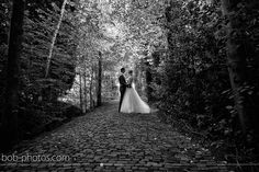 Zwart/Wit foto bruid en bruidegom bob-photos.com