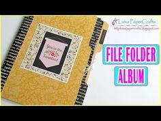 Luisa PaperCrafts: File Folder Album Tutorial (Eng Sub) Scrapbook Journal, Mini Scrapbook Albums, Scrapbook Cards, Mini Albums, Tutorial Scrapbook, Manila Folder, Folio Books, Life On A Budget, Junk Journal