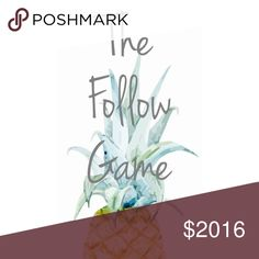 This Listing Is Full, a New One was Just Added! Gain Followers! Like this post, share with your current followers, and follow me & other Poshers so we can all grow together! :] Happy Poshing!! Follow Game Other