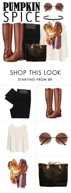"""""""Pumpkin Spice Style"""" by lululafitte ❤ liked on Polyvore featuring Cheap Monday, Ariat, MANGO, Louis Vuitton and Carbon & Hyde"""