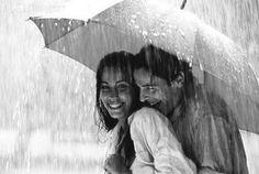 Love in the rain.