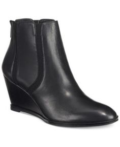 Alfani Women's Calistah Wedge Ankle Booties, Only at Macy's - Black 9.5M