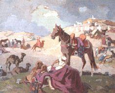 Campement von Edouard Edmond Doigneau