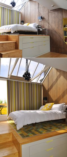 Fresh and Vibrant Home with Innovative Storage Solutions