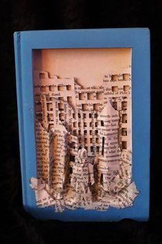 """Slaughterhouse 5"" book sculpture (artist: Jodi Harvey-Brown)"