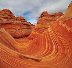 The Waveis located on the Colorado Plateau, near the Utah and Arizona border.