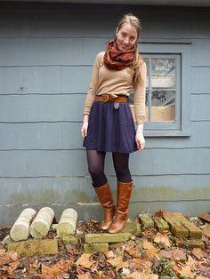 cute girly autumn look