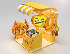Bebelac Bebefruve Gourmet Booth on Behance Exhibition Stand Design, Exhibition Stall, Exhibition Display, Pos Design, Retail Design, Pop Display, Display Design, Stand Feria, Displays
