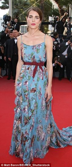 Charlotte Casiraghi walks the red carpet at the Cannes Film Festival, May 2015
