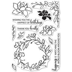 Memory Box Clear Stamps WATCHING THE WORLD BLOOM Open Studio CL5197