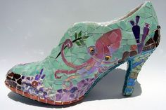 PINK OCTOPUS - Mosaic Shoe Sculpture. $399.00, via Etsy.   By Eve at Kraken Mosaics