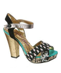 Take a look at this Black & White Whoopi Sandal by Irregular Choice on #zulily today!