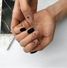 21 Edgy Matte Black Nails to inspire you . 21 Edgy Matte Black Nails to inspire you Matte Black Nails, Black Nail Art, Black Manicure, Gold Nails, Gel Manicure, Black White Nails, Matte Nail Polish, Matte Pink, Red Nail