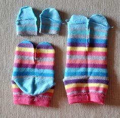 Sock Crafts, Sewing Crafts, Felt Dolls, Baby Dolls, Felt Doll Patterns, Sock Bunny, Sock Monster, Sock Toys, How To Make A Pom Pom