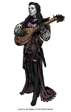 Bard - Pathfinder - Love the Goth bard look.
