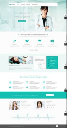 You need this wordpress website desings Click Visit above for more options. Best website designs for modern html websites Website Design Inspiration, Website Design Layout, Web Layout, Website Designs, Website Ideas, Dentist Website, Hospital Website, Healthcare Website, Webdesign Layouts