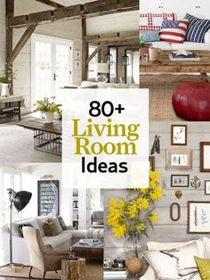 80 amazing ideas to transform your living room into everyone's favorite gathering space: http://www.countryliving.com/homes/decor-ideas/living-room-gallery:
