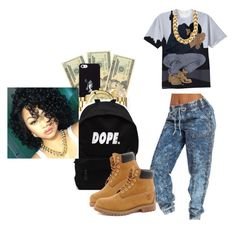 """6 God is watching - Drake 6"" by mamiyanna ❤ liked on Polyvore featuring OPTIONS, October's Very Own, Vince Camuto, Michael Kors and Timberland"