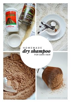 Homemade Dry Shampoo - {great for medium/dark hair} This DIY dry shampoo recipe is super easy! You HAVE to try this fantastic homemade dry shampoo. MUST. PIN!