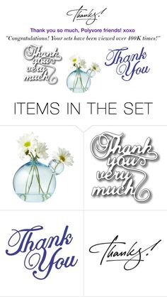 """'Thank you!'"" by karenskloset ❤ liked on Polyvore featuring art"