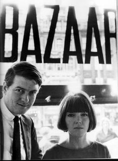 Mary Quant and her husband Alexander Plunket Greene in their shop, Bazaar on the King's Road in London.