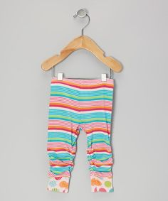 Take a look at this Blue & Pink Stripe Leggings - Infant, Toddler & Girls by Me Too on #zulily today!
