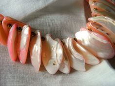 Pink Shell 23 Inch Necklace Vintage Shipping by resurrections, $14.95