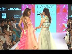 Ileana D'Cruz in Ghagra Choli DANCES on ramp at Lakme Fashion Week 2015.