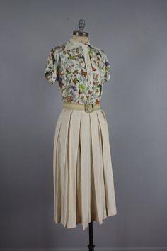 1960's Ivory Butterfly Dress