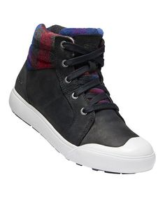KEEN Black Plaid Elena Mid Insulated Sneaker Boot - Women | Zulily