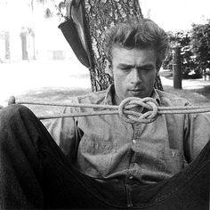 James Dean contemplating.