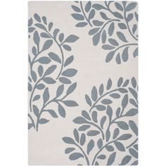 Martha Stewart by Safavieh Leaf Stamp Arrowroot Wool Rug (5' x 8') (MSR4560B-5), Multi, Size 5' x 8'