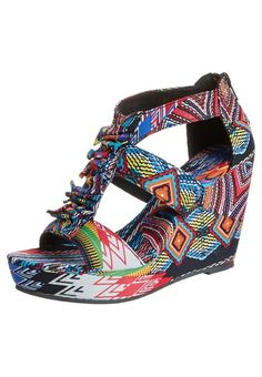 Blowfish High Heel Sandalette | Awesome 'Aztec' inspired print  - these kicks would look great with solid color capri leggings and dashiki-style top or a tie-dye maxi dress.