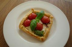 Capresetaartje met mozzarella, tomaatjes, verse pesto en balsamico 18-4-2015