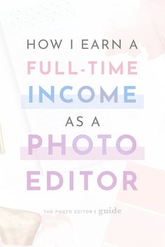 Looking for a fun way to make money from home? One great option is to become a freelance photo editor! If you want to see how Katie earns a full-time income online offering photo editing services click through now! Work From Home Moms, Make Money From Home, Way To Make Money, Extra Cash, Extra Money, Make Money Blogging, Make Money Online, Entrepreneur, How To Start A Blog