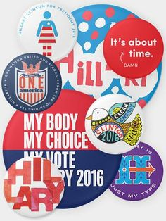The 45 Pins Collector Set - Hillary for President Womens Rights Feminism, Desire Clothing, Madam President, Pin And Patches, Me Clean, Chicago Cubs Logo, Signature Style, Creative, Projects