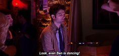 "He can even show off the traditional dance of the nerd. | Community Post: 18 Reasons Ben Wyatt From ""Parks And Rec"" Is The Most Accurate Nerd On TV"