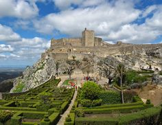 Castelo de Marvão, (Marvão Castle) in Marvão, Alentejo, Portugal   Photo by José Porras CC BY 3.0 on Wikipedia Commons - commons.m.wikimedia.org at: https://commons.m.wikimedia.org/wiki/File:CastillodeMarvao.jpg#mw-jump-to-license   Link to License: https://commons.m.wikimedia.org/wiki/Commons:GNU_Free_Documentation_License,_version_1.2   Pinned by Charlotte   What a beautiful place and a beautiful picture!