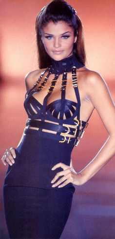 Helena Christensen on the runway for Gianni Versace 1992