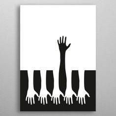 Attractiveness bias - we see five hands reaching downward while ONE black hand reaches upward. It portrays they are reaching for different things. Notan Art, Arte Digital Fantasy, Negative Space Art, Cactus Drawing, Art Curriculum, Principles Of Design, Creative Posters, Arte Pop, Elements Of Art